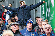 Preston North End fans celebrate after a goal by Preston North End forward Paul Gallagher (12) during the EFL Sky Bet Championship match between Charlton Athletic and Preston North End at The Valley, London, England on 3 November 2019.