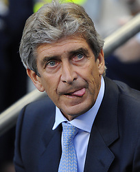 Manchester City Manager, Manuel Pellegrini  - Photo mandatory by-line: Joe Meredith/JMP - Tel: Mobile: 07966 386802 19/08/2013 - SPORT - FOOTBALL - Etihad Stadium - Manchester - Manchester City V Newcastle United - Barclays Premier League