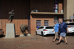 Pretoria. Currie Cup rugby. Loftus Versveld Stadium in Arcadia. 01-09-18 Blue Bulls vs Gauteng Lions. Two men walk in the precinct of the stadium.<br /> Picture: Karen Sandison/African News Agency(ANA)