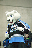17 February, 2006 - Anchorage, AK:  Ace's mascot Boomer invades the stands during the Alaska Aces 5-1 victory over the visiting Long Beach IceDogs at Sullivan Arena.