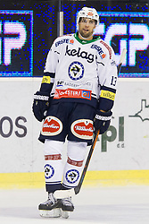 13.09.2015, Hala Tivoli, Ljubljana, SLO, EBEL, HDD Telemach Olimpija Ljubljana vs EC VSV, 2. Runde, in picture Ziga Pance (EC VSV, #13) during the Erste Bank Icehockey League 2. Round between HDD Telemach Olimpija Ljubljana and EC VSV at the Hala Tivoli, Ljubljana, Slovenia on 2015/09/13. Photo by Urban Urbanc / Sportida