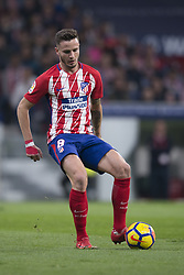 November 18, 2017 - Madrid, Madrid, Spain - Saul Ã'iguez during the match between Atletico de Madrid and Real Madrid, week 12 of La Liga at Wanda Metropolitano stadium, Madrid, SPAIN - 18th November of 2017. (Credit Image: © Jose Breton/NurPhoto via ZUMA Press)