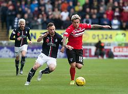 Falkirk's Bob McHugh and Dunfermline's Rhys McCabe. Falkirk 2 v 1 Dunfermline, Scottish Championship game played 15/10/2016, at The Falkirk Stadium.