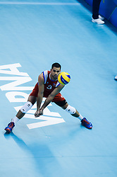 September 12, 2018 - Varna, Bulgaria - Pablo Guzman, Puerto Rico, .. during Iran vs Puerto Rico, pool D, during 2018 FIVB Volleyball Men's World Championship Italy-Bulgaria 2018, Varna, Bulgaria on September 12, 2018  (Credit Image: © Hristo Rusev/NurPhoto/ZUMA Press)