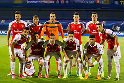 Players of Arsenal F.C. before football match between GNK Dinamo Zagreb, CRO and Arsenal FC, ENG in Group F of Group Stage of UEFA Champions League 2015/16, on September 16, 2015 in Stadium Maksimir, Zagreb, Croatia. Photo by Urban Urbanc / Sportida