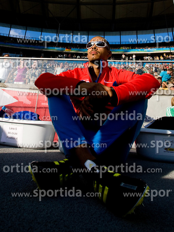 Felix Sanchez of Dominican Republic at warming before the men's 4x400 m Relay Final during the day nine of the 12th IAAF World Athletics Championships at the Olympic Stadium on August 23, 2009 in Berlin, Germany. (Photo by Vid Ponikvar / Sportida)