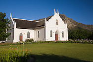 Th Dutch Reformed Church in Franschhoek, built in 1848.