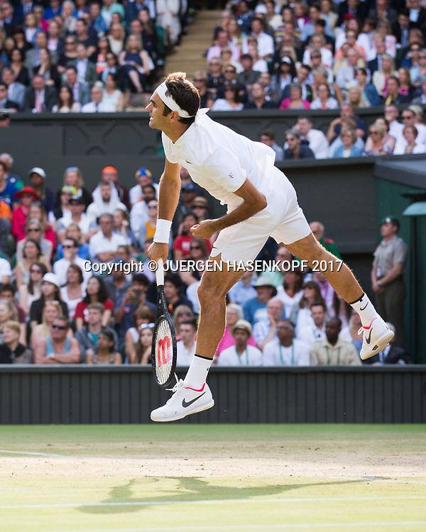 ROGER FEDERER (SUI)<br /> <br /> Tennis - Wimbledon 2017 - Grand Slam ITF / ATP / WTA -  AELTC - London -  - Great Britain  - 12 July 2017.
