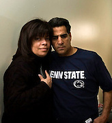 Sunday, March 19, 2006, Anna Cruz and her husband, Steve Cannizzaro, in their Northeast Philadelphia home. A few hours later they would make the 25-minute drive to Philadelphia's Hahnemann Hospital, where she would save his life by donating a portion of her liver.