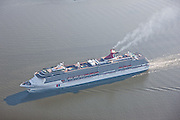 "Aerial photo of the Carnival Cruise Ship ""Pride"" on way to Masryland Cruise Terminal"