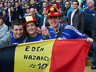 Picture by Alan Stanford/Focus Images Ltd +44 7915 056117.08/05/2013.Chelsea fans supporting Eden Hazard during the Barclays Premier League match at Stamford Bridge, London..
