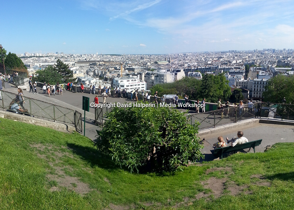 Paris skyline view from Sacre Coeur cathedral