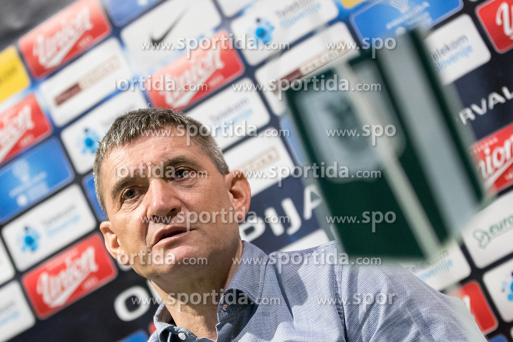 Marijan Pusnik at press conference of NK Olimpija Ljubljana about new head coach Marijan Pusnik, on March 9, 2017 in Austria Trend Hotel, Ljubljana, Slovenia. Photo By Matic Klansek Velej / Sportida