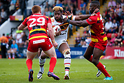 Bradford Bulls loose forward Ross Peltier (17) in action  during the Kingstone Press Championship match between Dewsbury Rams and Bradford Bulls at the Tetley's Stadium, Dewsbury, United Kingdom on 4 June 2017. Photo by Simon Davies.