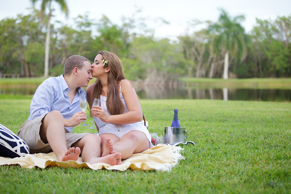 Engagement photography session in Matheson Hammock Park, Miami, Florida