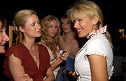 Paris Hilton, Melissa Odabash  and Diana Jenkins. 4 Inches, A  Photographic Auction in aid of the Elton John Aids Foundation hosted by Tamara Mellon and Arnaud Bamberger. Christie's. 8 King St. London. 25 May 2005. ONE TIME USE ONLY - DO NOT ARCHIVE  © Copyright Photograph by Dafydd Jones 66 Stockwell Park Rd. London SW9 0DA Tel 020 7733 0108 www.dafjones.com