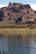 The Salt River just outside of Phoenix metropolitain area, displays the beautiful colors of the desert.