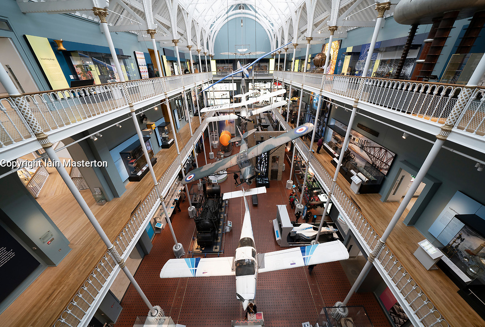 Interior of National Museum of Scotland, Edinburgh, Scotland, UK