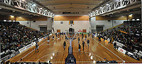 A general view of the Lion Foundation arena, prior to the NBL match, between the Otago Nuggets and Hawkes Bay, Lion Foundation Arena, Edgar Centre, Dunedin, Otago, New Zealand, Friday, May 24, 2013. Credit: Joe Allison / Allison Images.