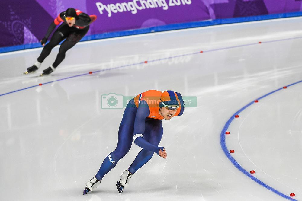 February 23, 2018 - Pyeongchang, Gangwon, South Korea - Kai Verbij of Netherlands. at 1000 meter speedskating at winter olympics, Gangneung South Korea on February 23, 2018. (Credit Image: © Ulrik Pedersen/NurPhoto via ZUMA Press)