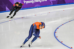 February 23, 2018 - Pyeongchang, Gangwon, South Korea - Kai Verbij of  Netherlands. at 1000 meter speedskating at winter olympics, Gangneung South Korea on February 23, 2018. (Credit Image: © Ulrik Pedersen/NurPhoto via ZUMA Press)