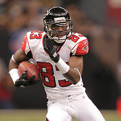 2008 December, 07: Atlanta Falcons wide receiver Harry Douglas (83) runs after a catch during a 29-25 victory by the New Orleans Saints over NFC South divisional rivals the Atlanta Falcons at the Louisiana Superdome in New Orleans, LA.