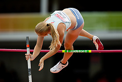 Tina Sutej of Slovenia competes in the Womens Pole Valut Final during day four of the 20th European Athletics Championships at the Olympic Stadium on July 30, 2010 in Barcelona, Spain.  (Photo by Vid Ponikvar / Sportida)