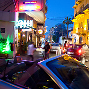 BEIRUT,LEBANON - MAY 2009 : The bars and restaurants on the street Gourad  in the  Gemmayzeh district are known for their nightlife. Beirut. Lebanon. 05/29/2009 (Photo: Jordi Cami )