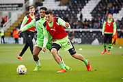 Wolverhampton Wanderers defender Danny Batth (6) warms up before kick off during the EFL Sky Bet Championship match between Fulham and Wolverhampton Wanderers at Craven Cottage, London, England on 18 March 2017. Photo by Andy Walter.