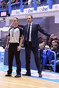 DESCRIZIONE : Brindisi  Lega A 2015-16<br /> Enel Brindisi Openjobmetis Varese<br /> GIOCATORE : Paolo Moretti<br /> CATEGORIA : Allenatore Coach Arbitro Referee Mani Fair Play<br /> SQUADRA : Openjobmetis Varese<br /> EVENTO : Campionato Lega A 2015-2016<br /> GARA :Enel Brindisi Openjobmetis Varese<br /> DATA : 29/11/2015<br /> SPORT : Pallacanestro<br /> AUTORE : Agenzia Ciamillo-Castoria/M.Longo<br /> Galleria : Lega Basket A 2015-2016<br /> Fotonotizia : Brindisi  Lega A 2015-16 Enel Brindisi Openjobmetis Varese<br /> Predefinita :