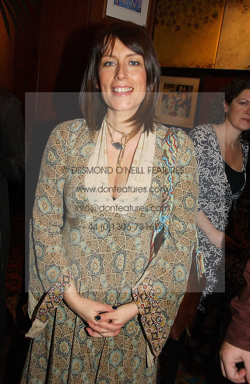 Actress FAY RIPLEY at the launch of  'Idiot-Proof Diet' by Neris Thomas and India Knight held at The Arts Club, 40 Dover Street, London on 11th January 2007.<br />