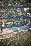 Aerial view of beach cottages on Sullivan's Island, SC