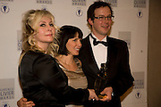 Emma Williams; Sadie Frost; Tom Piper, The Laurence Olivier Awards, The Grosvenor House Hotel. Park Lane. London. 8 March 2009 *** Local Caption *** -DO NOT ARCHIVE -Copyright Photograph by Dafydd Jones. 248 Clapham Rd. London SW9 0PZ. Tel 0207 820 0771. www.dafjones.com<br /> Emma Williams; Sadie Frost; Tom Piper, The Laurence Olivier Awards, The Grosvenor House Hotel. Park Lane. London. 8 March 2009