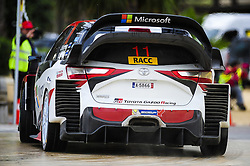 October 7, 2017 - Salou, Spain - The Finnish driver, Juho Hnninen and his co-driver Kai Lindstrm, of Toyota Gazzo Racing Wrt, driving his Toyota Yaris WRC at Salou special stage during the second day of the Rally Racc Catalunya Costa Daurada, on October 7, 2017 in Salou, Spain. (Credit Image: © Joan Cros/NurPhoto via ZUMA Press)