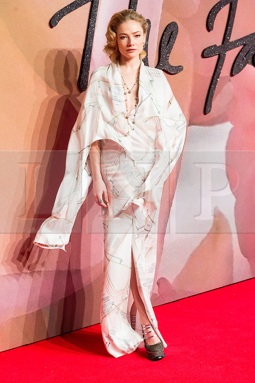 © Licensed to London News Pictures. 05/12/2016. CLARA PAGET arrives for The Fashion Awards 2016 celebrating the best of British and international fashion. London, UK. Photo credit: Ray Tang/LNP