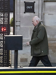 © Licensed to London News Pictures. 19/10/2019. London, UK. IAIN DUNCAN SMITH is seen arriving at The Houses of Parliament in Westminster, London on the day that Parliament will vote on a new agreement between UK government and the EU over Brexit. Parliament is sitting on a Saturday for the first time since 1982. Photo credit: Ben Cawthra/LNP