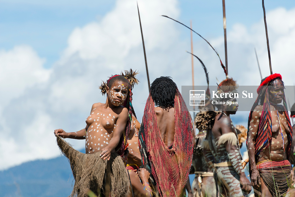 Dani people at Baliem Valley Festival, Wamena, Papua, Indonesia