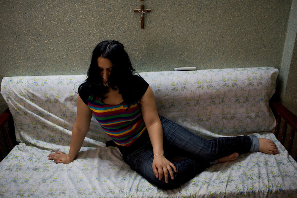 Nada, prostitute, living in Damascus, Syria. With no permission to work many iraqi refugees turn to prostitution to find a way of living.(full text upon request).