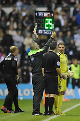 Bournemouth's Darryl Flahavan comes on as a substitute after Bournemouth's Lee Camp gets sent off   - Photo mandatory by-line: Dougie Allward/JMP - Mobile: 07966 386802 - 30/09/2014 - SPORT - Football - Derby - Pride Park - Derby County v AFC Bournemouth - Sky Bet Championship