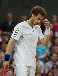 LONDON, ENGLAND - Friday, June 24, 2011: Andy Murray (GBR) looks dejected during the Gentlemen's Singles 3rd Round match on day five of the Wimbledon Lawn Tennis Championships at the All England Lawn Tennis and Croquet Club. (Pic by David Rawcliffe/Propaganda)