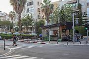 A kiosk in Sderot Nordau (Nordau Boulevard) Tel Aviv, Israel