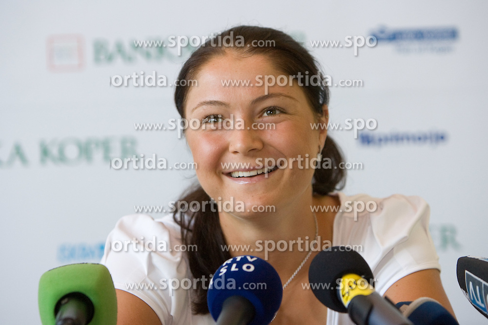 Number one world women player Dinara Safina of Russia  at press conference before Banka Koper Slovenia Open 2009 of Sony Ericsson WTA tour in Portoroz,  on July 16, 2009, in Hotel Mons, Ljubljana, Slovenia. (Photo by Vid Ponikvar / Sportida)