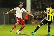 Sheffield United defender Kieron Freeman reaches for the ball during the Sky Bet League 1 match between Burton Albion and Sheffield Utd at the Pirelli Stadium, Burton upon Trent, England on 29 September 2015. Photo by Aaron Lupton.