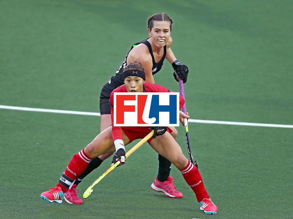 New Zealand, Auckland - 18/11/17  <br /> Sentinel Homes Women&rsquo;s Hockey World League Final<br /> Harbour Hockey Stadium<br /> Copyrigth: Worldsportpics, Rodrigo Jaramillo<br /> Match ID: 10295 - NZL vs KOR<br /> Photo: (13) CHARLTON Samantha&nbsp;(C) against (26) KIM Jongeun&nbsp;(C)