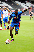 Crystal Palace attacker, Yannick Bolasie (10) warming up during the Pre-Season Friendly match between Fulham and Crystal Palace at Craven Cottage, London, England on 30 July 2016. Photo by Matthew Redman.