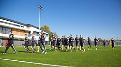 NEWPORT, WALES - Tuesday, October 7, 2014: Wales players training at Dragon Park National Football Development Centre ahead of the UEFA Euro 2016 qualifying match against Bosnia and Herzegovina. (Pic by David Rawcliffe/Propaganda)