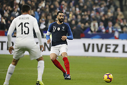 France's Adil Rami during France v Uruguay friendly football match at the Stade de France in Saint-Denis, suburb of Paris, France on November 20, 2018. France won 1-0. Photo by Henri Szwarc/ABACAPRESS.COM