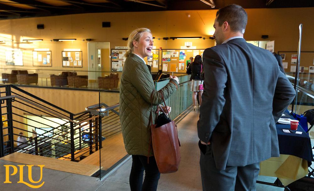 Career Connection's Business Career Fair held in Morken Center on Wednesday, Nov. 19, 2014. (Photo/John Froschauer)