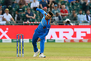 Rashid Khan (vc) of Afghanistan bowling during the ICC Cricket World Cup 2019 match between Afghanistan and Australia at the Bristol County Ground, Bristol, United Kingdom on 1 June 2019.