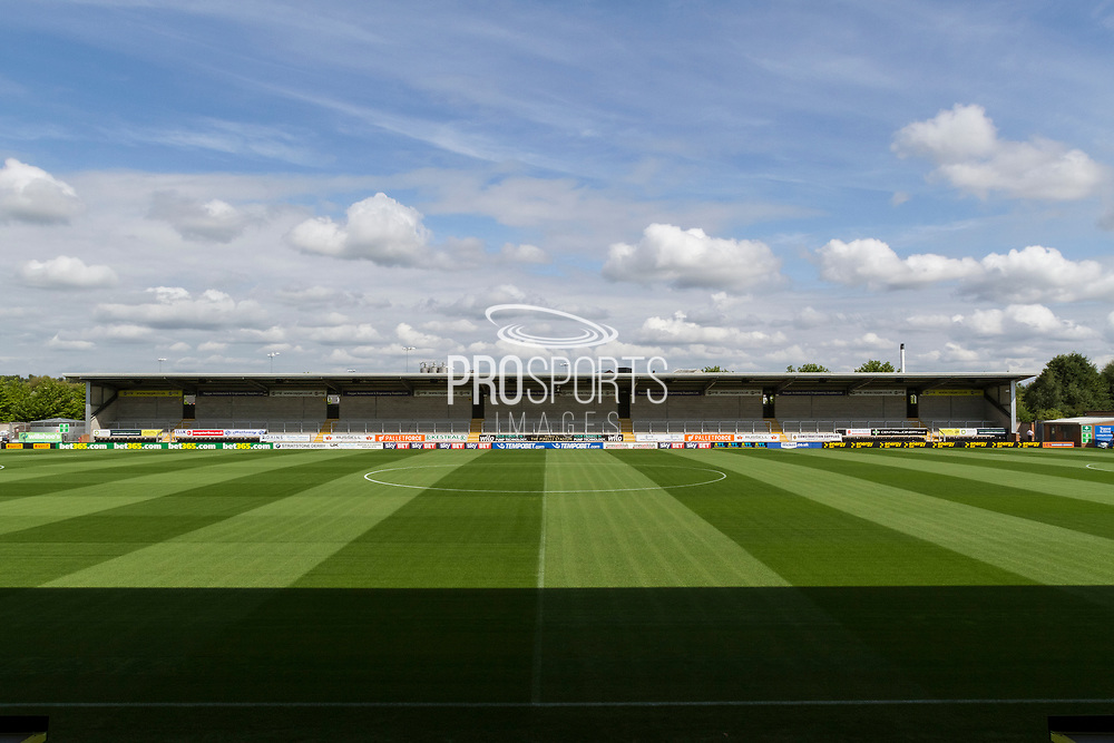 General view of the Pirelli stadium during the EFL Sky Bet Championship match between Burton Albion and Sheffield Wednesday at the Pirelli Stadium, Burton upon Trent, England on 26 August 2017. Photo by Richard Holmes.